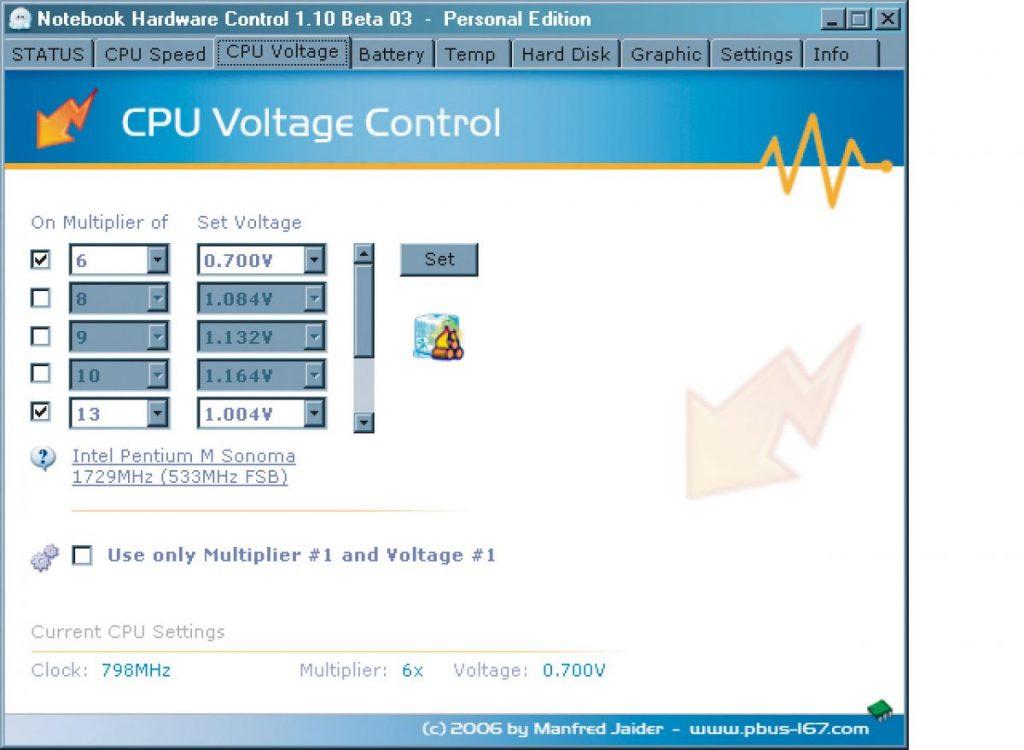 Множители (от 6 до 13) программа задает автоматически, в соответствии с типом используемого процессора