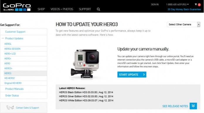 Как обновить прошивку экшен-камеры GoPro Hero