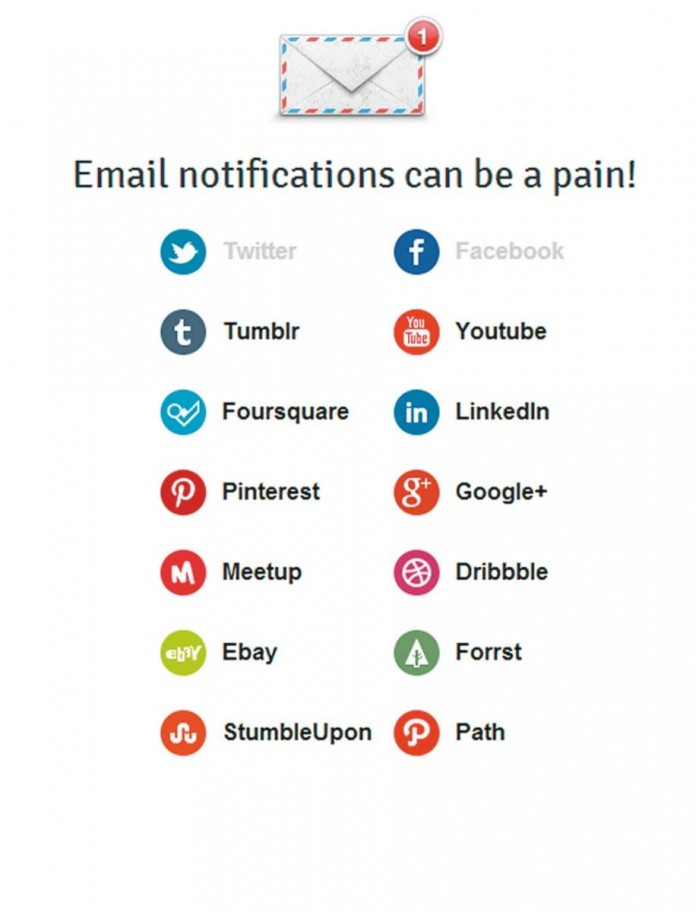 Отключение  уведомлений от социальных сетей