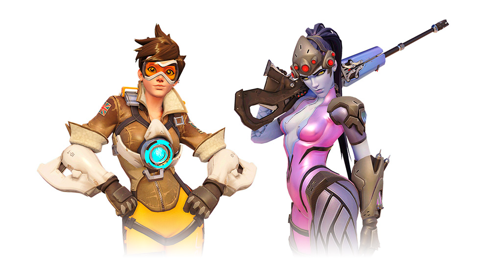 Overwatch: Tracer & Widowmaker
