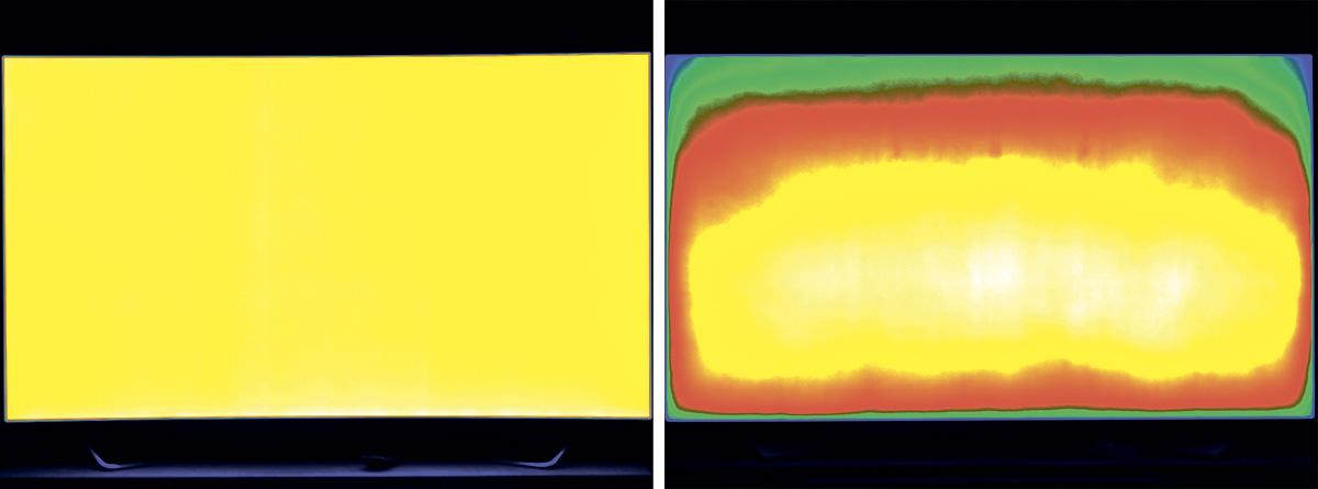 Подсветка: дисплеи на основе органических светодиодов (OLED) отличаются очень однородной подсветкой (слева), а вот с Direct LED или Edge LED чаще проявляются затемнения и светлые пятна. При выборе в магазине это можно проверить на примере очень яркого или очень темного изображения.