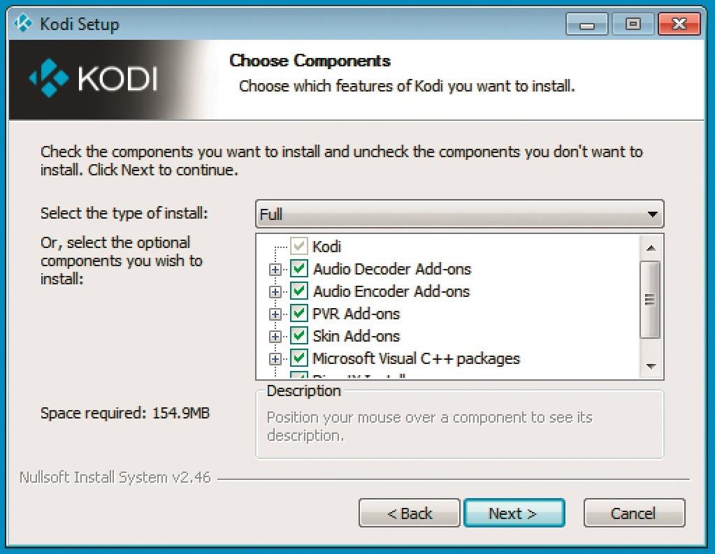 Развлекательный центр Полный установочный пакет Kodi обеспечивает максимальный объем функций