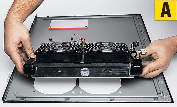 Монтаж радиатора на боковую стенку