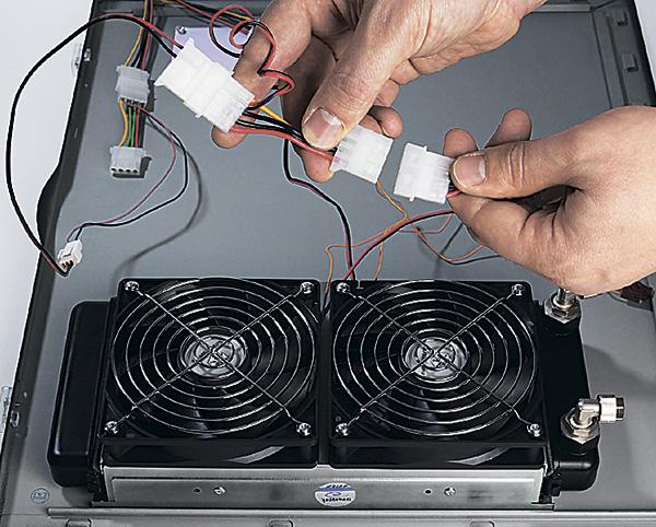 Обеспечение радиатора питанием