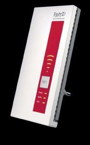 Репитер Wi-Fi. Повторитель сигнала, такой как Fritz WLAN Repeater 1160 производства компании AVM, становится причиной лишь небольшой потери скорости, так как в двухдиапазонном режиме он использует частоты 2,4 и 5 ГГц