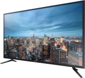Samsung UE48JU6000U можно купить по цене до 50 000 рублей, при этом его диагонали 48 дюймов уже достаточно, чтобы увидеть разницу между Full-HD и UHD