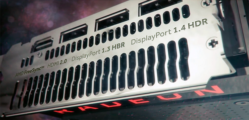 Интерфейсы AMD Radeon RX 480 8GB: Displayport (3x), HDMI (1x).