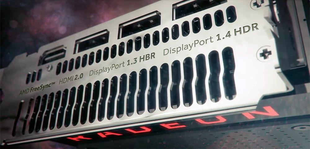 Интерфейсы AMD Radeon RX 480 8GB: Displayport (3x), HDMI (1x).