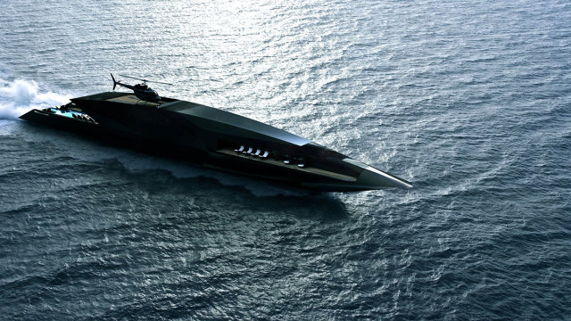 Впечатляющий дизайн: супер-яхта The Black Swan приведет в восхищение даже миллиардеров