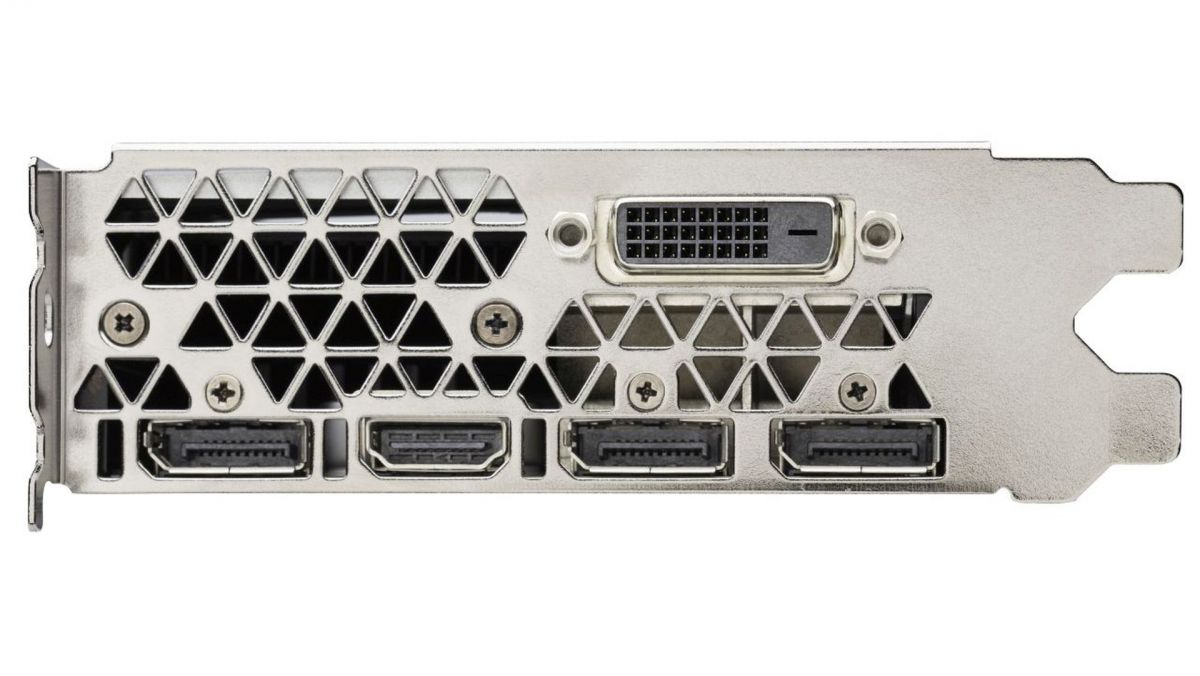 GeForce GTX 1060 имеет пять интерфейсов: HDMI 2.0b, DVI, Displayport (x3).