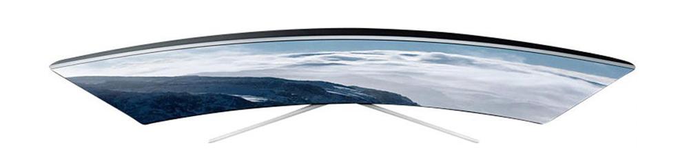 Samsung-UE65KS9590: изогнутый телевизор с тонким корпусом и отличным качеством изображения.