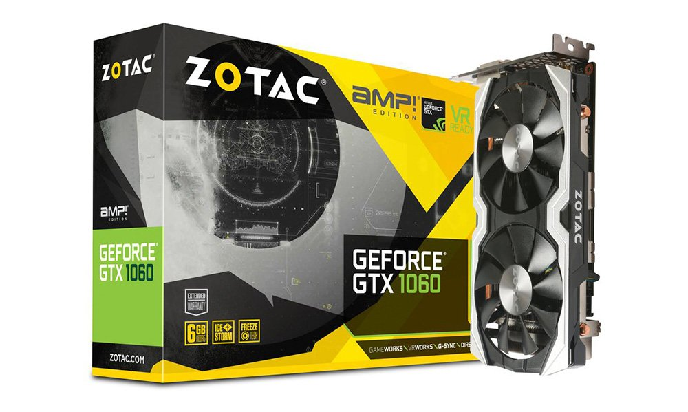 Zotac GeForce GTX 1060 AMP! 6GB (ZT-P10600B-10M)