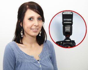 используем вспышку при фотографировании: направленная в потолок вспышка создает однородное освещение. Следите за тем, чтобы глазницы получились не слишком темными
