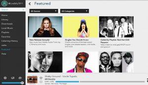 Многие сервисы, включая Napster, предлагают приложение для Windows