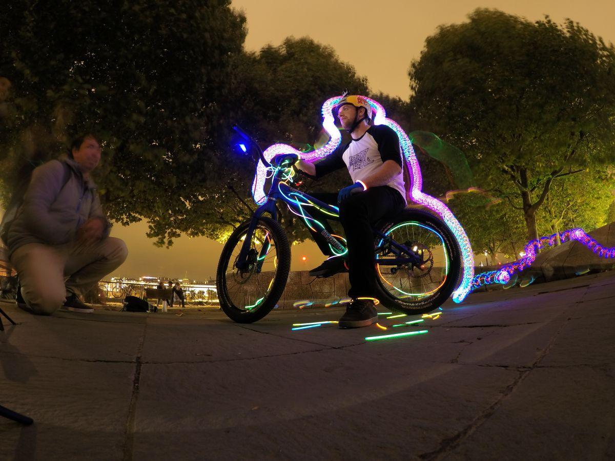 GoPro Hero4 Silver Edition: длинная экспозиция в ночное время