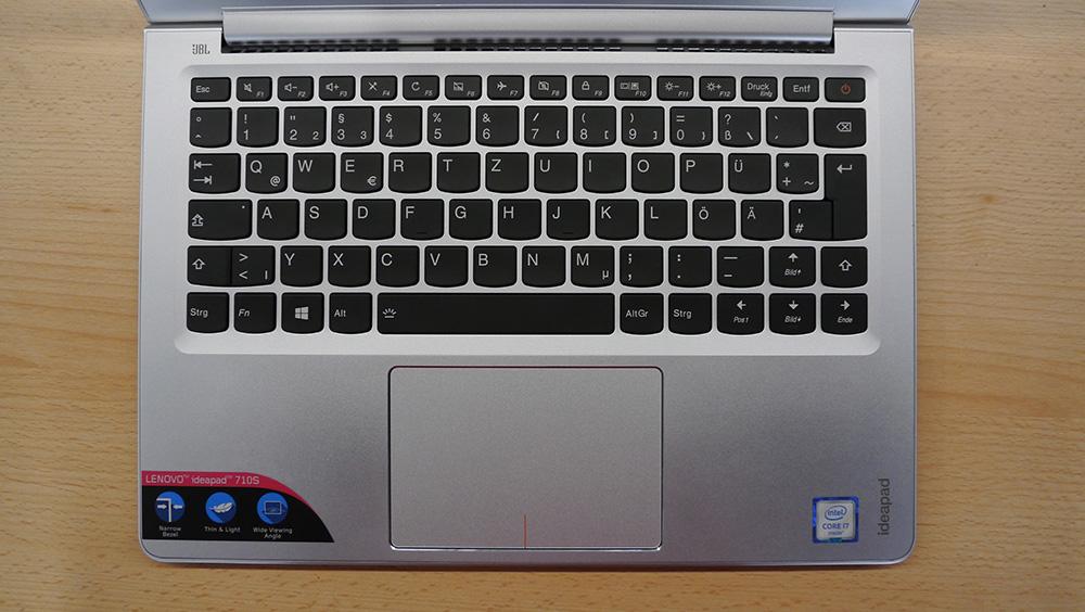 Lenovo Ideapad 710s: хорошая клавиатура, разочаровывающий кликпад