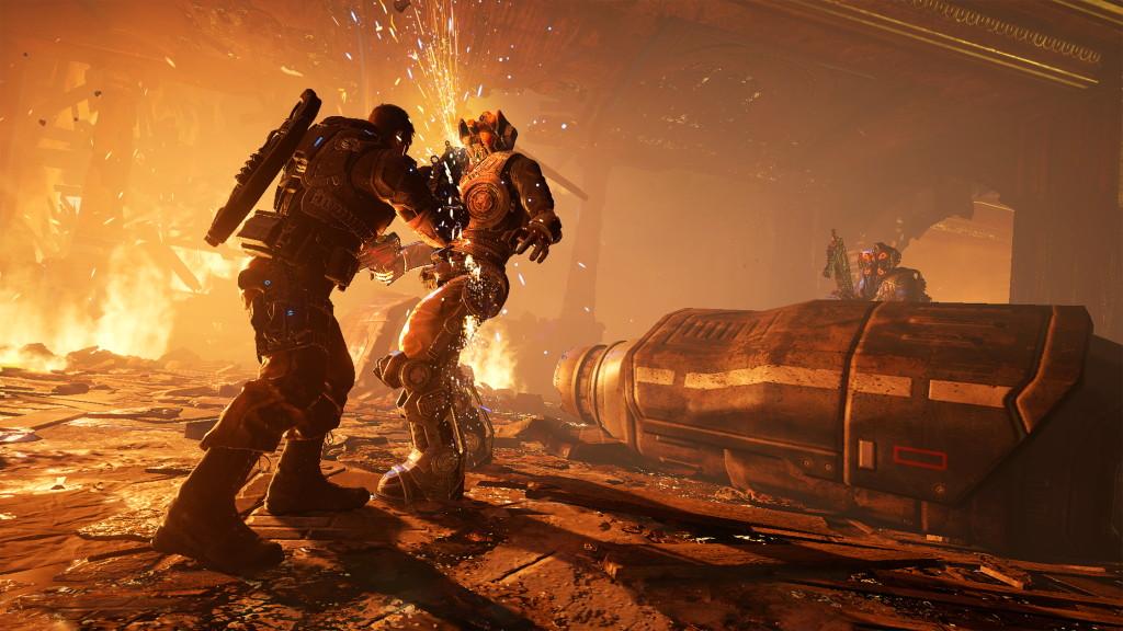 В реализацию поступила новая часть игры Gears ofWar— 4-ая пошла