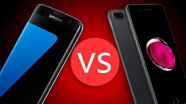 iPhone 7 Plus против S7 Edge: такой же размер дисплея, но совершенно разные концепции — сравниваем S7 Edge (слева) и iPhone 7 Plus (справа)
