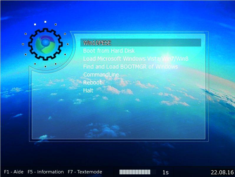 Загрузочное меню запустит аварийную систему Windows с диска восстановления