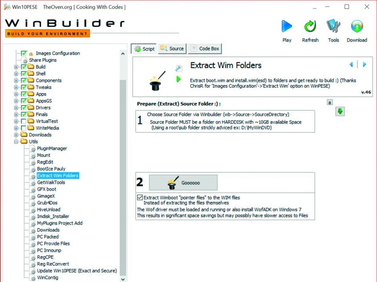 В качестве базы аварийный диск использует системные файлы Windows, извлеченные из оригинального образа
