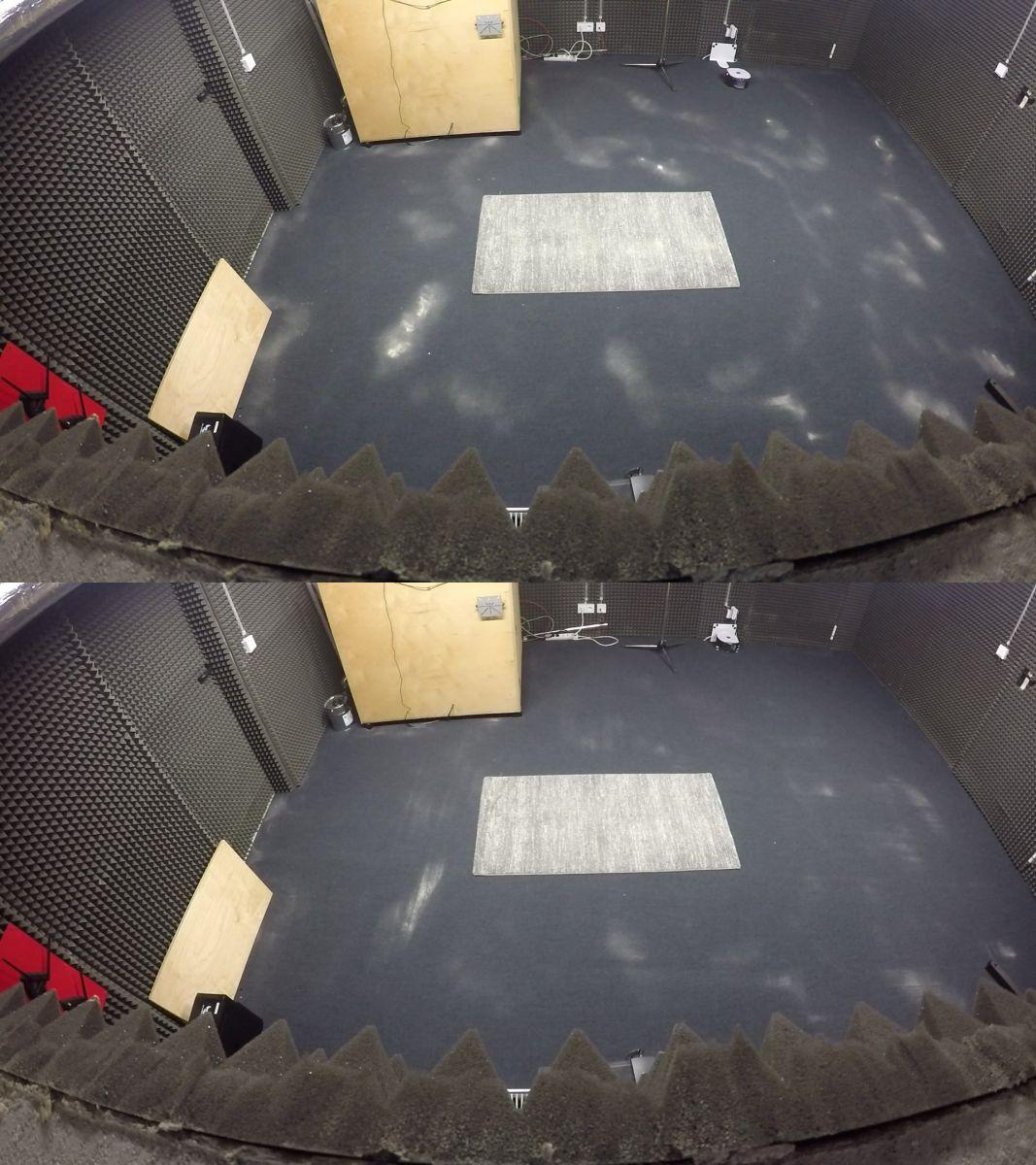 Фото: до и после: кварцевый песок на ковровом покрытии — настоящий вызов для любого пылесоса. С этой задачей робот справляется довольно хорошо
