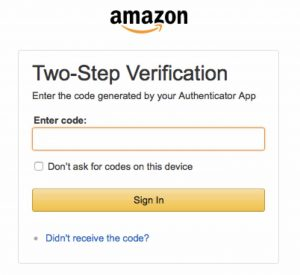 Дополнительная защита.Такие веб-сервисы, как Amazon и Google, делают доступ к учетной записи безопаснее благодаря внедрению дополнительного одноразового кода