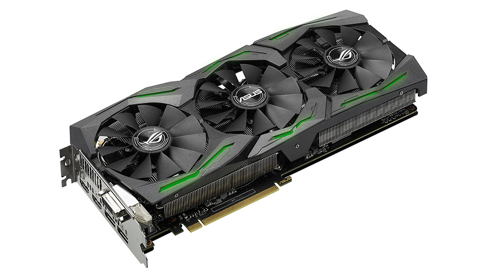 Asus GeForce GTX 1080 STRIX OC Edition 8GB: лучшая из протестированных нами «мейнстримовых» видеокарт.