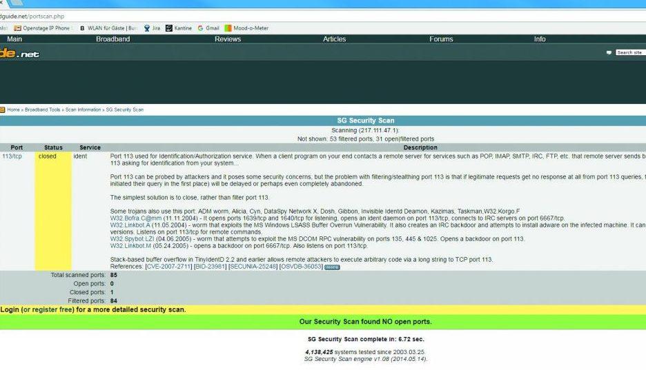 Проверка роутера из Сети.На сайте speedguide.net вы можете проверить, не открыты ли на вашем роутере порты и нет ли в нем уязвимостей