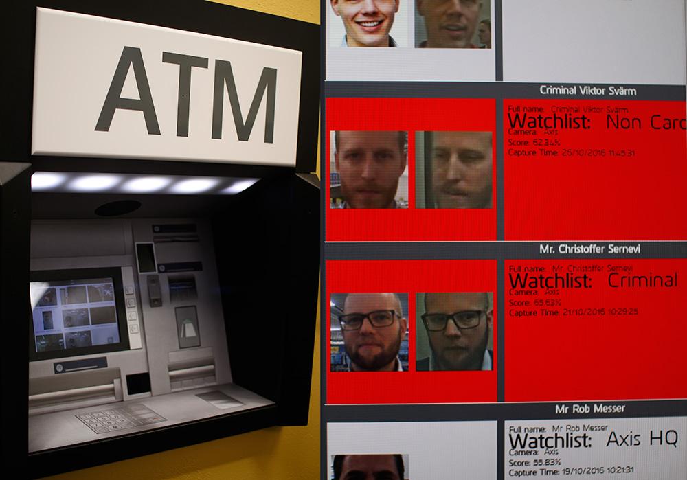 Распознавание лиц: Если у банкомата или в банке появится преступник, система определит его.