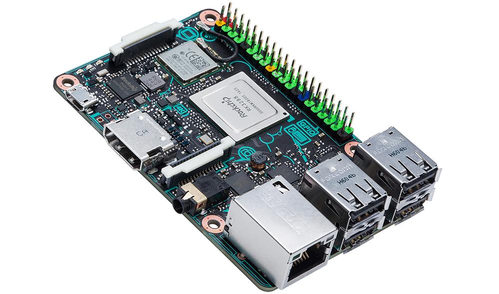 ASUS Tinker Board: разъемы и дизайн Tinker Board сильно напоминают таковые в Raspberry Pi.