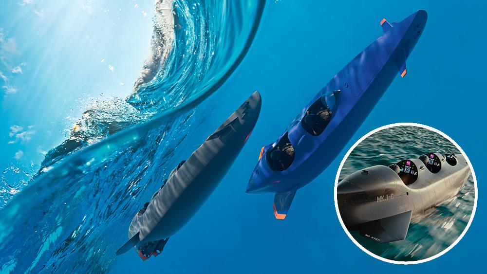 В электрическую подводную лодку Mk.1C от Ortega помещаются до трех человек с водолазным снаряжением. Она развивает скорость до 20 км/ч и передвигается на 150 километров.