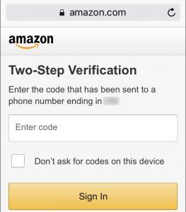 Такие крупные сайты, как Amazon, защищают свои аккаунты технологией 2FA