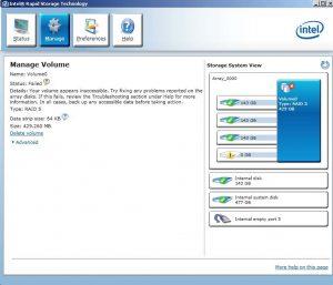 Intel Rapid Storage