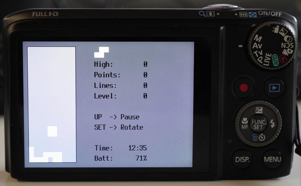 Тюнинг камер Canon: Нечего снимать? Поиграйте в Тетрис.
