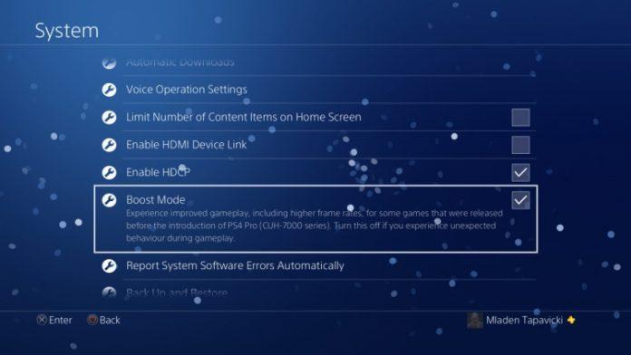 Boost Mode-режим в PS4 Pro улучшает производительность старых игр