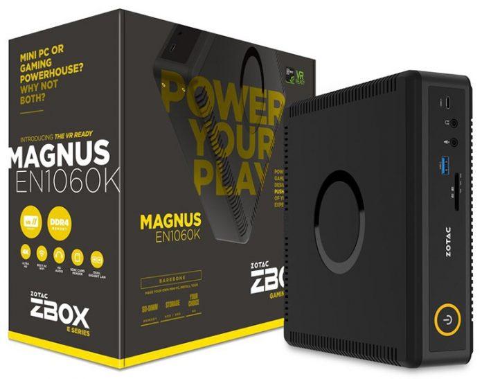 ZOTAC представила игровой мини-ПК ZBOX Magnus EN1060K