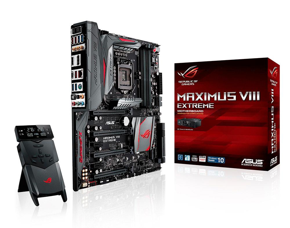Asus ROG Maximus VIII Extreme Gaming: оснащение класса «Люкс» по соответствующей цене.
