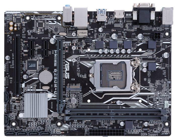 ASUS Prime B250M-D – материнская плата для компактных игровых ПК и домашних медиацентров