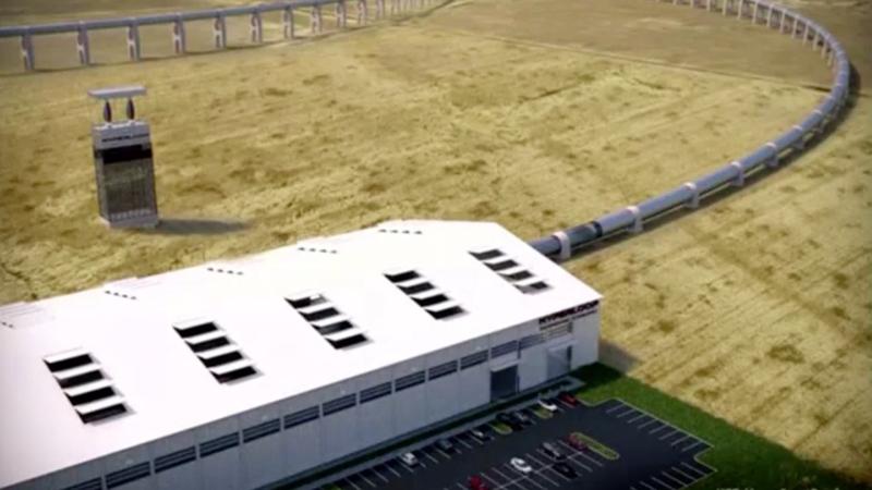 Первый испытательный трек Hyperloop уже почти готов