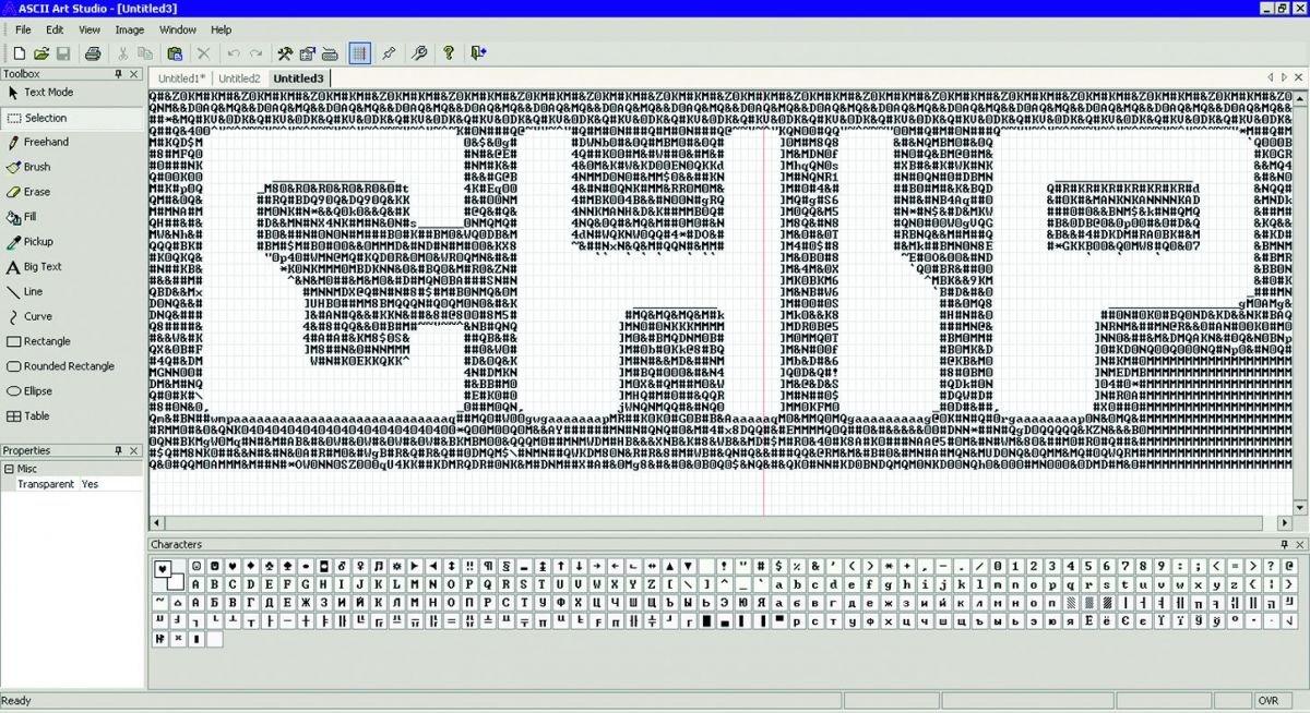 ASCII Art Studio предоставляет полную свободу в выборе инструментов для создания ASCII-рисунков