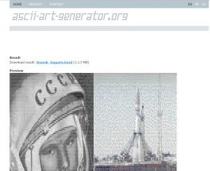 Как составить картину из ASCII-кодов