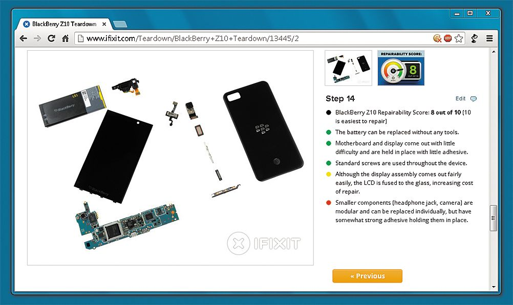 Проверка возможности ремонта перед покупкой. Веб-сайт ifixit.com публикует подробные пособия по ремонту и рейтинги устройств — даже для новейшей техники