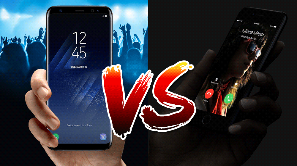 Samsung Galaxy S8 vs Apple iPhone 7