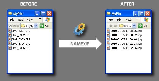 Как автоматически вставить дату съемки в имя файла с фотографией