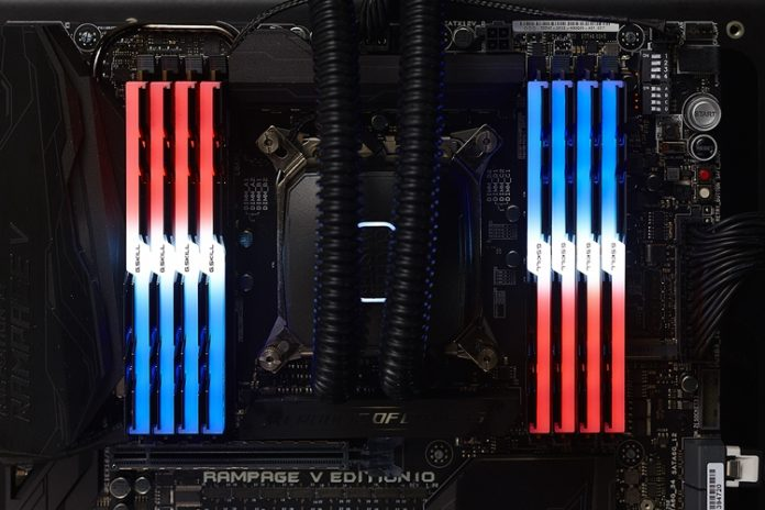G.SKILL анонсировала наборы памяти Trident Z RGB DDR4 с RGB-подсветкой