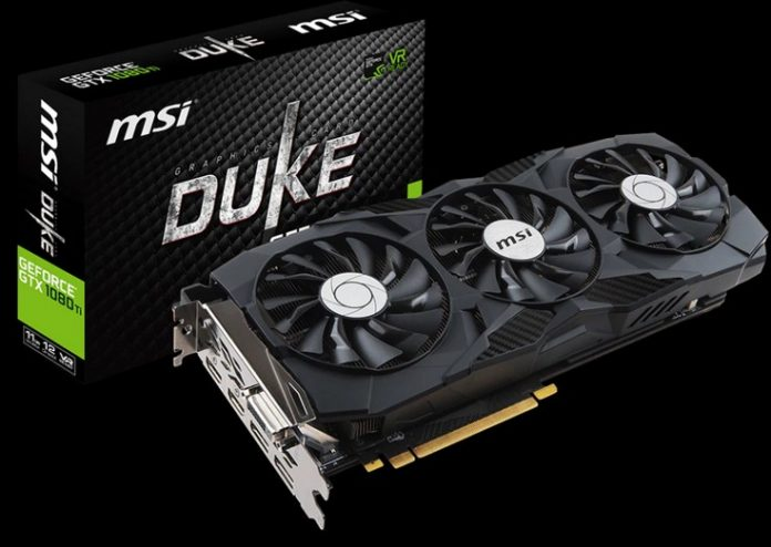 MSI представила две видеокарты GeForce GTX 1080 Ti Duke