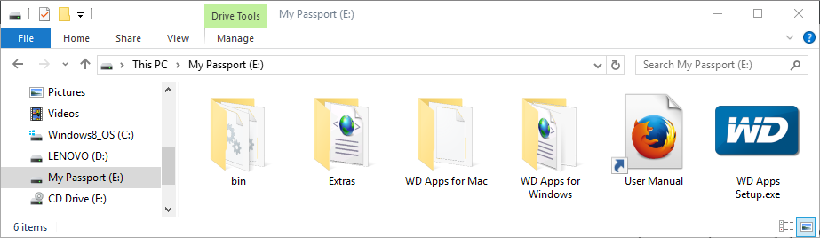 WD My Passport 1 TB (WDBBEX0010B)