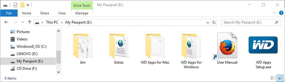 WD My Passport 1 TB (WDBBEX0010B)
