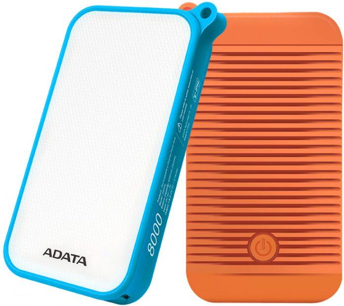 ADATA анонсировала мобильный аккумулятор с встроенным светильником
