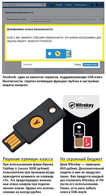 Надежная защита USB-ключом